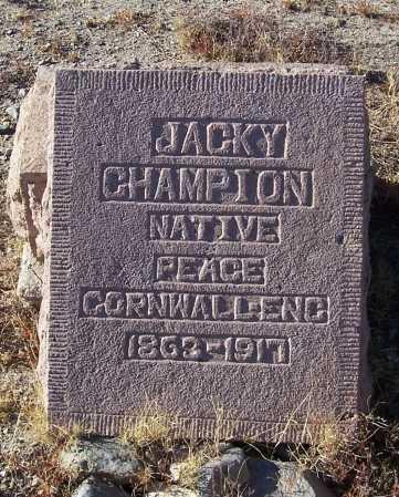 CHAMPION, JACKY - Gila County, Arizona | JACKY CHAMPION - Arizona Gravestone Photos