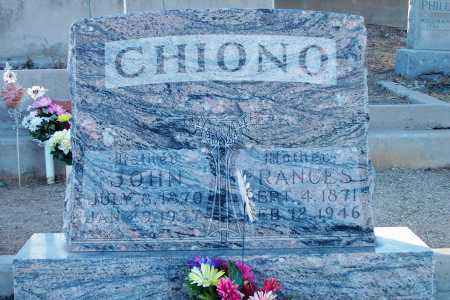 CHIONO, JOHN - Gila County, Arizona | JOHN CHIONO - Arizona Gravestone Photos