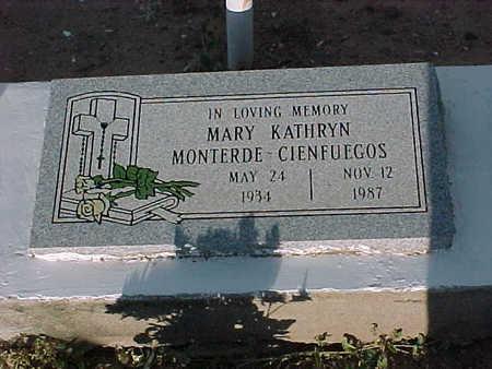 CIENFUEGOS, MARY KATHRYN - Gila County, Arizona | MARY KATHRYN CIENFUEGOS - Arizona Gravestone Photos