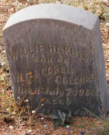 COLCORD, WILLIE HAROLD - Gila County, Arizona | WILLIE HAROLD COLCORD - Arizona Gravestone Photos