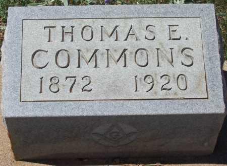 COMMONS, THOMAS E. - Gila County, Arizona | THOMAS E. COMMONS - Arizona Gravestone Photos