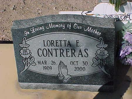 CONTRERAS, LORETTA  E. - Gila County, Arizona | LORETTA  E. CONTRERAS - Arizona Gravestone Photos
