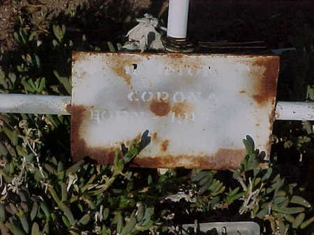 CORONA, RAMON - Gila County, Arizona | RAMON CORONA - Arizona Gravestone Photos