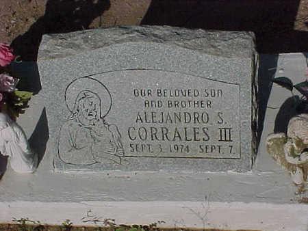 CORRALES, III, ALEJANDRO  S. - Gila County, Arizona | ALEJANDRO  S. CORRALES, III - Arizona Gravestone Photos
