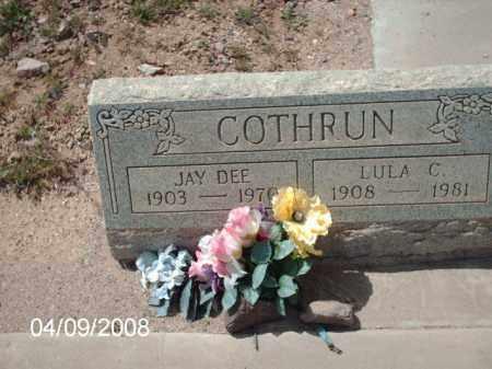 COTHRUN, LULA C. - Gila County, Arizona | LULA C. COTHRUN - Arizona Gravestone Photos