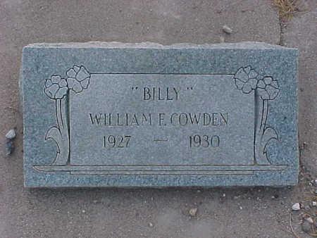 COWDEN, WILLIAM E (BILLY) - Gila County, Arizona | WILLIAM E (BILLY) COWDEN - Arizona Gravestone Photos