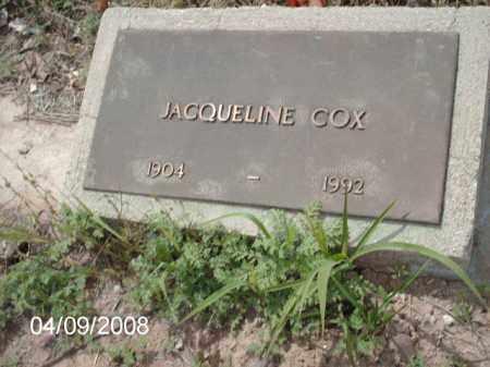 COX, JACQUELINE - Gila County, Arizona | JACQUELINE COX - Arizona Gravestone Photos