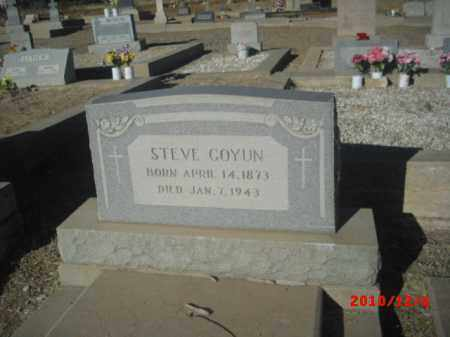 COYUN, STEVE - Gila County, Arizona | STEVE COYUN - Arizona Gravestone Photos