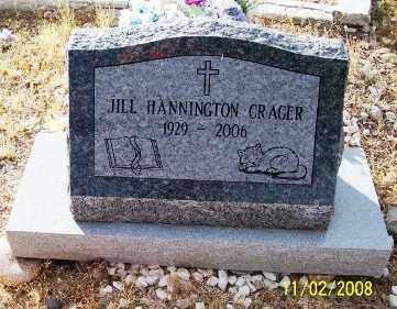CRAGER, JILL HANNINGTON - Gila County, Arizona | JILL HANNINGTON CRAGER - Arizona Gravestone Photos