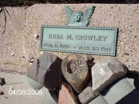CROWLEY, REBA M. - Gila County, Arizona | REBA M. CROWLEY - Arizona Gravestone Photos