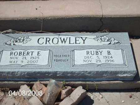 CROWLEY, RUBY B. - Gila County, Arizona | RUBY B. CROWLEY - Arizona Gravestone Photos