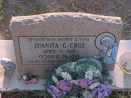 CRUZ, JUANITA  G. - Gila County, Arizona | JUANITA  G. CRUZ - Arizona Gravestone Photos
