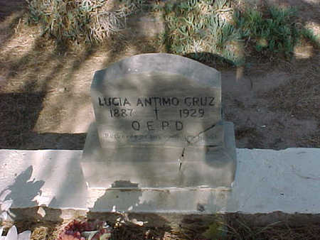 CRUZ, LUCIA  ANTIMO - Gila County, Arizona | LUCIA  ANTIMO CRUZ - Arizona Gravestone Photos