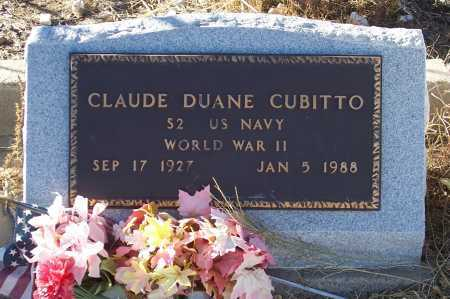CUBITTO, CLAUDE DUANE - Gila County, Arizona | CLAUDE DUANE CUBITTO - Arizona Gravestone Photos