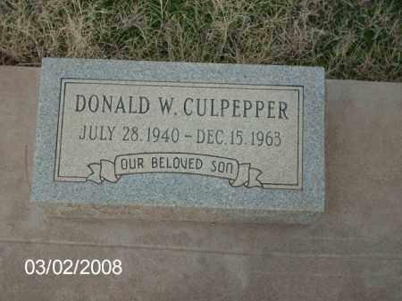 CULPEPPER, DONALD - Gila County, Arizona | DONALD CULPEPPER - Arizona Gravestone Photos