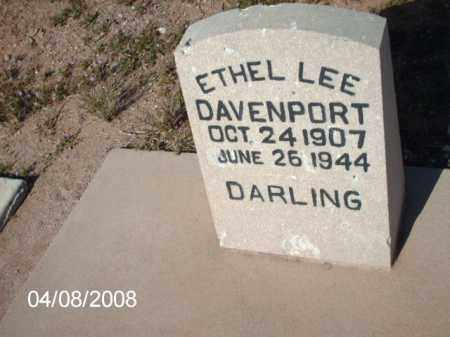 DAVENPORT, ETHEL LEE - Gila County, Arizona | ETHEL LEE DAVENPORT - Arizona Gravestone Photos