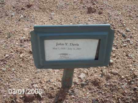DAVIS, JOHN  Y. - Gila County, Arizona | JOHN  Y. DAVIS - Arizona Gravestone Photos