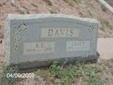 DAVIS, R. E. - Gila County, Arizona | R. E. DAVIS - Arizona Gravestone Photos