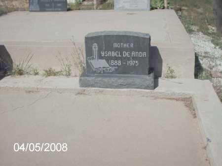 DE ANDA, YSABEL - Gila County, Arizona | YSABEL DE ANDA - Arizona Gravestone Photos