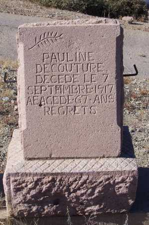 PAULET DECOUTURE, PAULINE - Gila County, Arizona | PAULINE PAULET DECOUTURE - Arizona Gravestone Photos