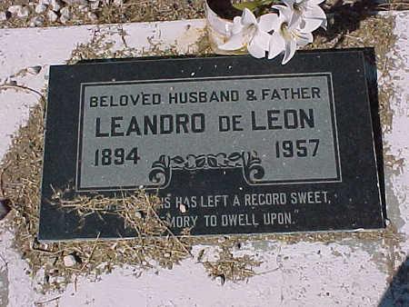 DE LEON, LEANDRO - Gila County, Arizona   LEANDRO DE LEON - Arizona Gravestone Photos