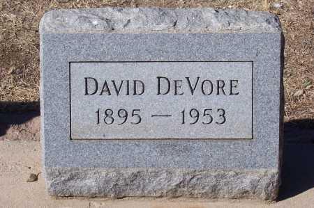 DE VORE, DAVID - Gila County, Arizona | DAVID DE VORE - Arizona Gravestone Photos