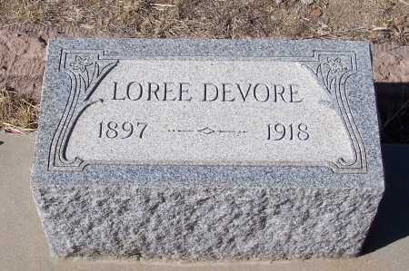 DE VORE, LOREE - Gila County, Arizona | LOREE DE VORE - Arizona Gravestone Photos