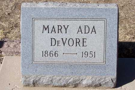 DE VORE, MARY ADA - Gila County, Arizona   MARY ADA DE VORE - Arizona Gravestone Photos