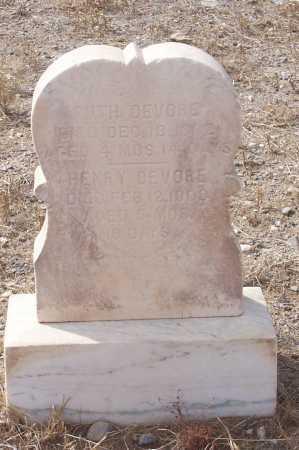 DE VORE, HENRY - Gila County, Arizona | HENRY DE VORE - Arizona Gravestone Photos