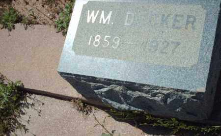 DECKER, WILLIAM - Gila County, Arizona | WILLIAM DECKER - Arizona Gravestone Photos