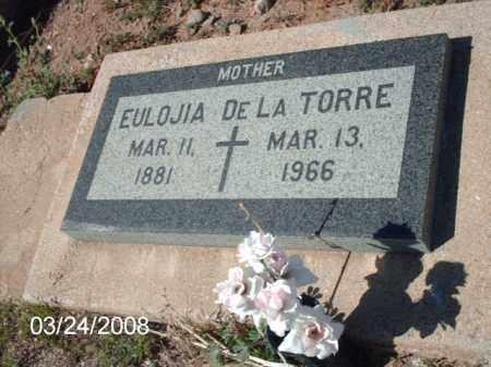 DELATORRE, EULOJIA - Gila County, Arizona | EULOJIA DELATORRE - Arizona Gravestone Photos