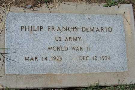 DEMARIO, PHILIP FRANCIS - Gila County, Arizona | PHILIP FRANCIS DEMARIO - Arizona Gravestone Photos