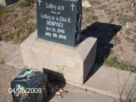 DEMPSEY, LEROY JR. - Gila County, Arizona | LEROY JR. DEMPSEY - Arizona Gravestone Photos