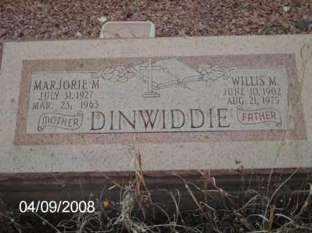 DINWIDDIE, WILLIS M. - Gila County, Arizona | WILLIS M. DINWIDDIE - Arizona Gravestone Photos