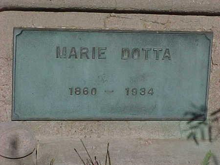 DOTTA, MARIE - Gila County, Arizona   MARIE DOTTA - Arizona Gravestone Photos