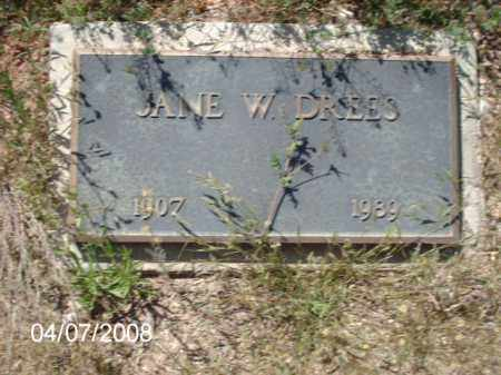 DREES, JANE W. - Gila County, Arizona | JANE W. DREES - Arizona Gravestone Photos
