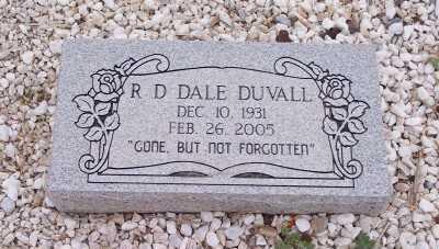 DUVALL, R. D. DALE - Gila County, Arizona | R. D. DALE DUVALL - Arizona Gravestone Photos
