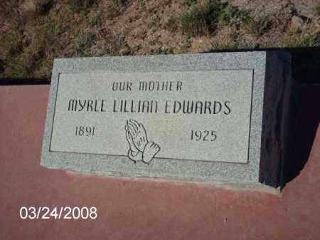 EDWARDS, MYRLE - Gila County, Arizona | MYRLE EDWARDS - Arizona Gravestone Photos
