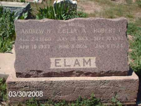 ELAM, ANDREW H. - Gila County, Arizona | ANDREW H. ELAM - Arizona Gravestone Photos
