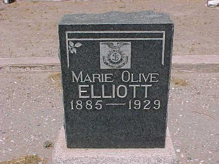 ELLIOT, MARIE  OLIVE - Gila County, Arizona   MARIE  OLIVE ELLIOT - Arizona Gravestone Photos