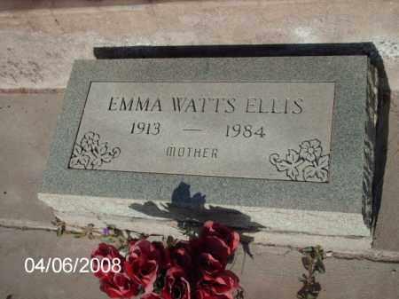 ELLIS, EMMA WATTS - Gila County, Arizona | EMMA WATTS ELLIS - Arizona Gravestone Photos