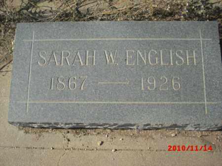 ENGLISH, SARAH W. - Gila County, Arizona | SARAH W. ENGLISH - Arizona Gravestone Photos