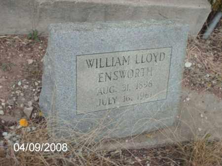 ENSWORTH, WILLIAM LLOYD - Gila County, Arizona | WILLIAM LLOYD ENSWORTH - Arizona Gravestone Photos