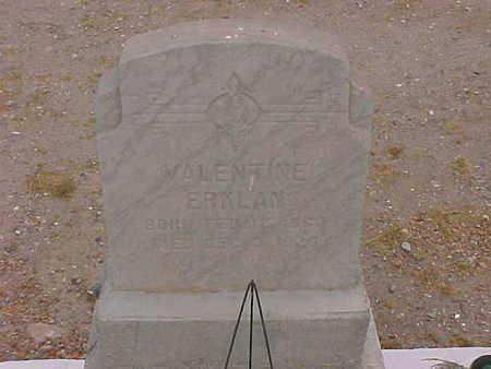 ERKLAN, VALENTINE - Gila County, Arizona   VALENTINE ERKLAN - Arizona Gravestone Photos