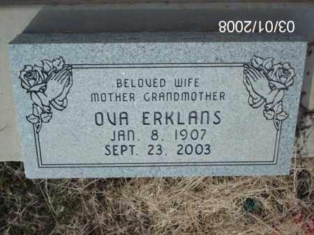 ERKLANS, OVA - Gila County, Arizona | OVA ERKLANS - Arizona Gravestone Photos