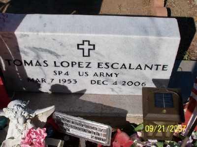 ESCALANTE, TOMAS LOPEZ - Gila County, Arizona   TOMAS LOPEZ ESCALANTE - Arizona Gravestone Photos