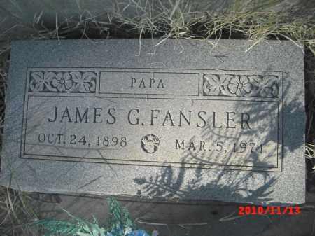 FANSLER, JAMES G. - Gila County, Arizona | JAMES G. FANSLER - Arizona Gravestone Photos