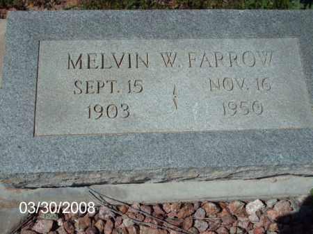 FARROW, MELVIN W. - Gila County, Arizona   MELVIN W. FARROW - Arizona Gravestone Photos