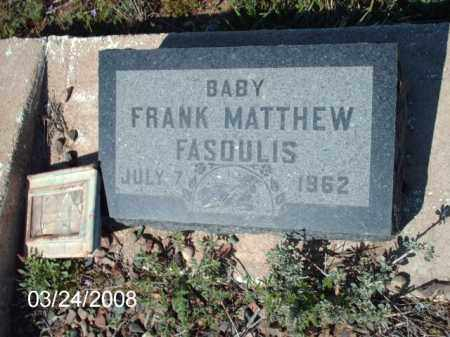 FASQULIS, FRANK - Gila County, Arizona | FRANK FASQULIS - Arizona Gravestone Photos