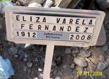 VARELA FERNANDEZ, ELIZA - Gila County, Arizona   ELIZA VARELA FERNANDEZ - Arizona Gravestone Photos